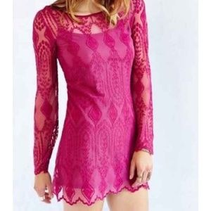 Urban Outfitters Ecote Mesh Embroidered Dress